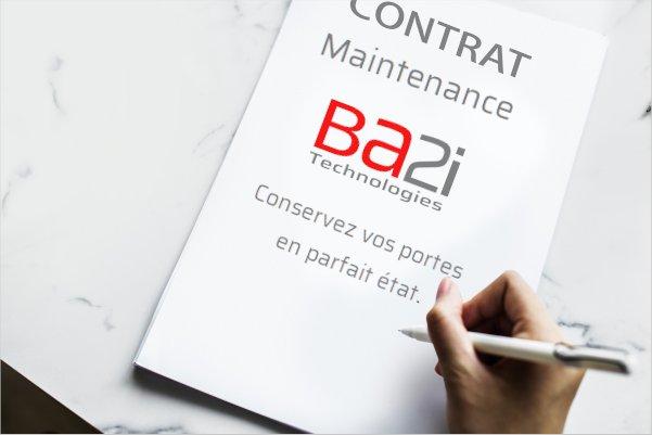 contrat de maintenance porte souple