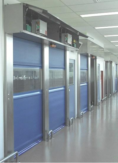 Porte flexible salle propre